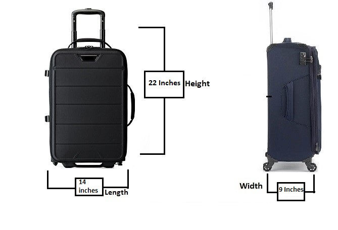 American Airlines carry on baggage dimensions